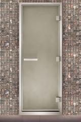 Алюминиевые двери для хамама сатин