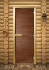 Дверь для бани бронза