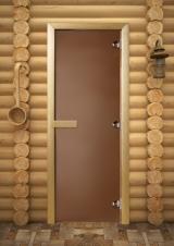 Двери для бани матовая бронза
