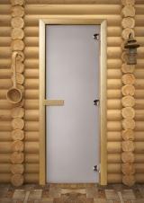 Двери для бани матовый сатин